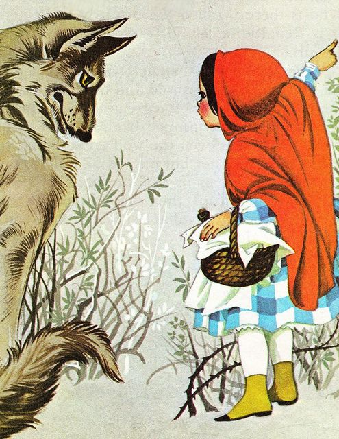 Little Red Riding Hood from Deans A Book of Fairy Tales. Illustrated by Janet & Anne Grahame Johnstone 1977
