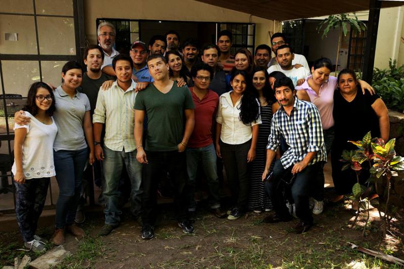 Foto de grupo del equipo de El Faro tomada en agosto de 2014. Enma Sofía es la última a la derecha.