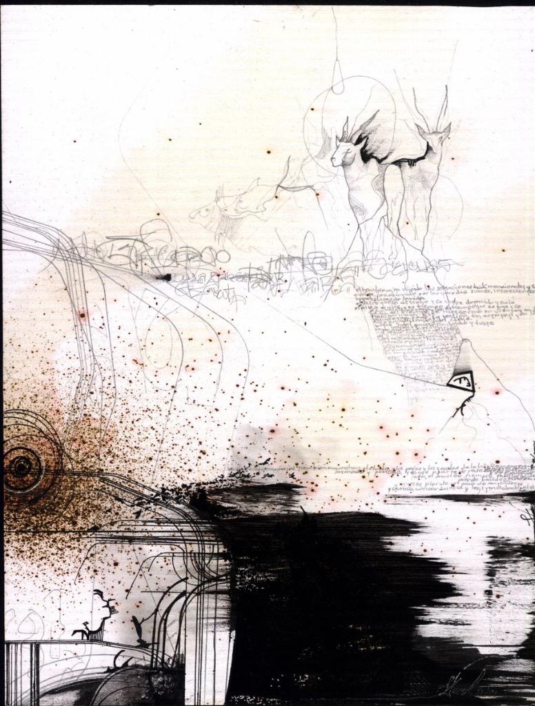 """Obra de la serie """"Sueños blancos"""", del artista salvadoreño José David Herrera, para ilustrar el dossier de poesía."""