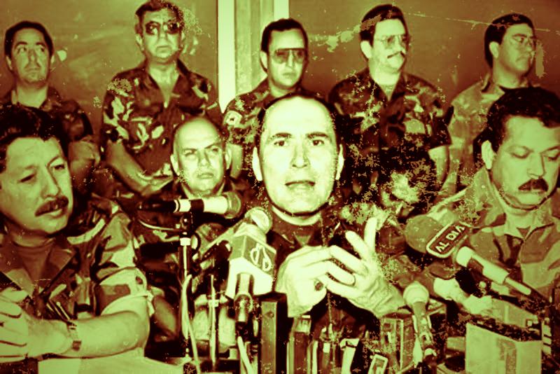 """Parte de generación de militares conocidos como """"La tandona"""" que lideraron el ejército duranta la guerra civil salvadoreña. / Imagen tomada de publicaciones periodísticas de la época."""