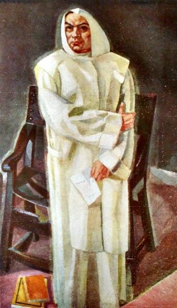 Retrato de Rubén Darío por Vázquez Díaz.